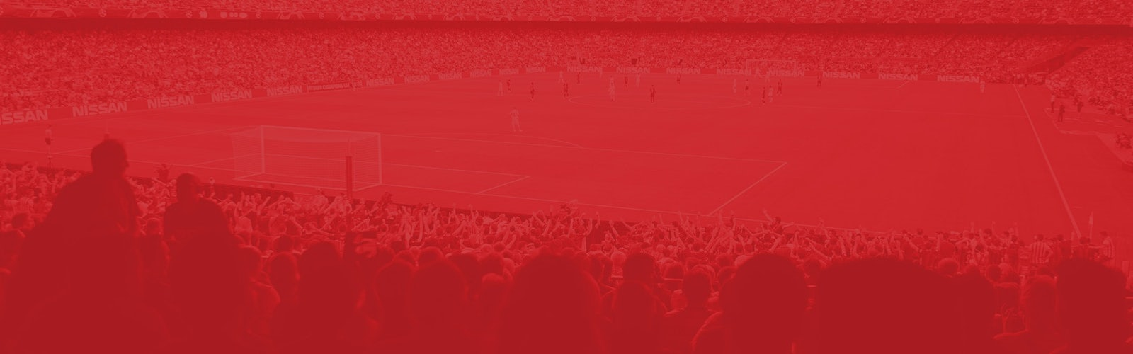 Header image red football fans