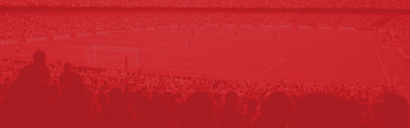 Header image red football fans